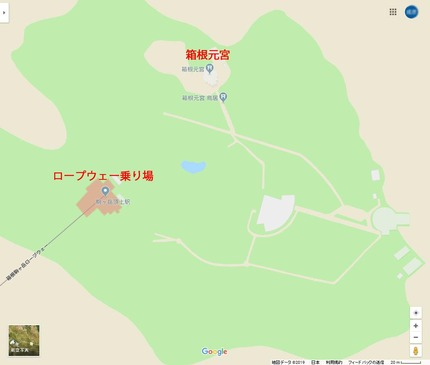 箱根元宮地図