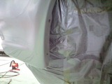 R32スカイライン錆穴修理 塗装完了