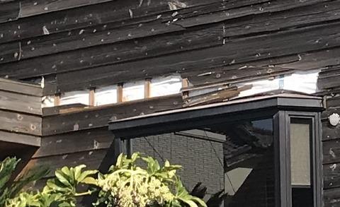 自宅台風被害