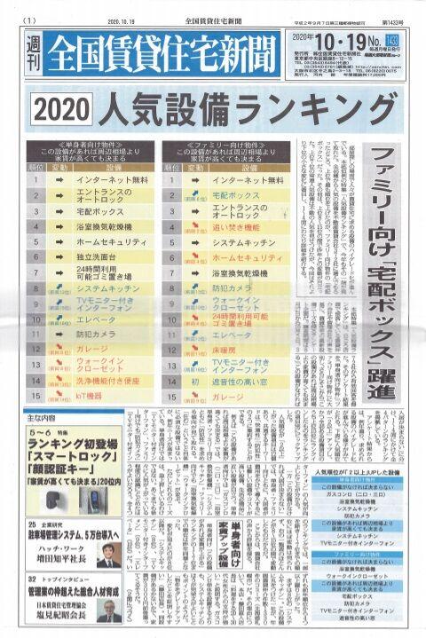 2020人気設備ランキング記事