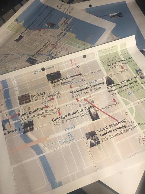 シカゴ建築マップ