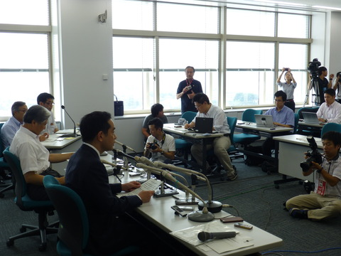 7月30日の写真2(栃木県調査候補地提示)