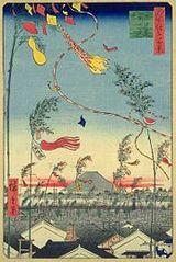 市中繁栄七夕祭/歌川広重