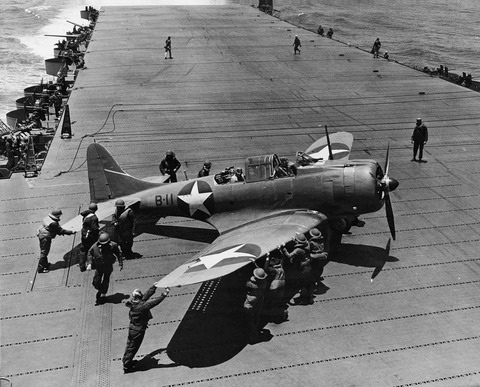 SBD_8-B-11_on_USS_Hornet_Midway