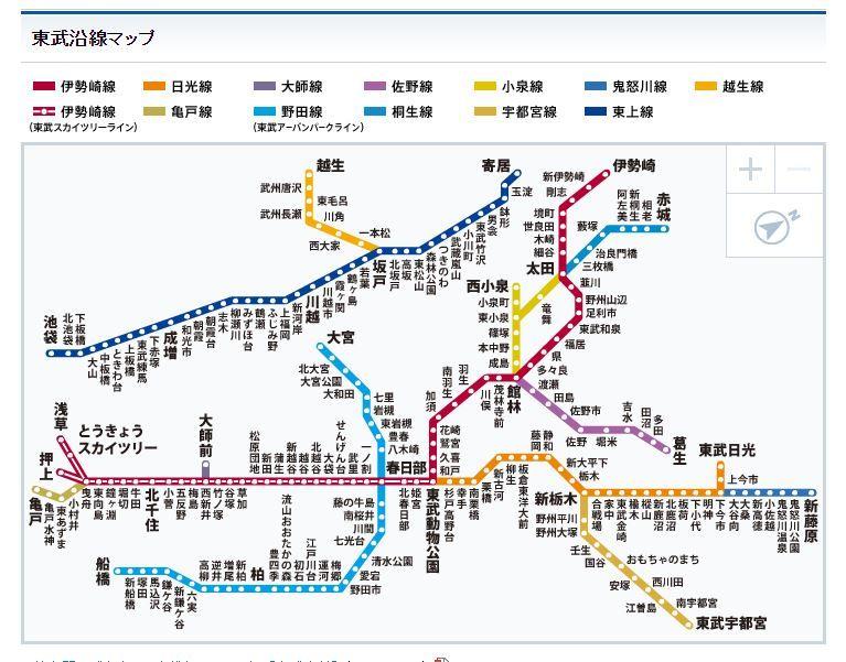 図 東武 鉄道 路線