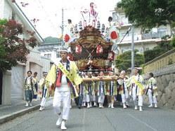 666神戸市灘区篠原厳島神社春祭り、地車巡航