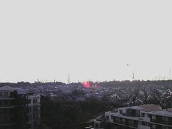 749三田市表替え、マンションからの景色、夕日