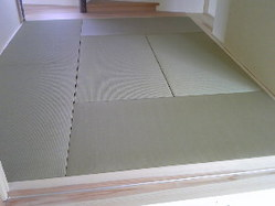 660琉球畳、いいえ縁無し畳です