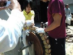 355神戸市灘区・篠原厳島神社春季大祭地車巡行準備