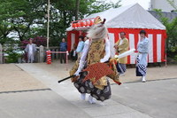 1114篠原厳島神社春季大祭、御神輿・猿田彦お渡り