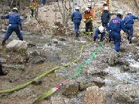 989神戸市灘消防団林野火災訓練