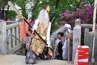 1113篠原厳島神社春季大祭、御神輿・猿田彦お渡り