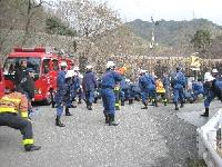 987神戸市灘消防団林野火災訓練