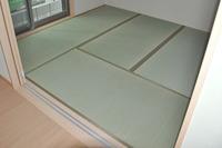 1380奈良県香芝市新築住宅の新畳、無農薬畳表使用。