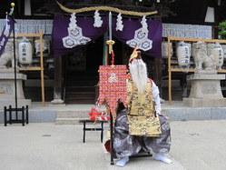 668神戸市灘区篠原厳島神社春祭り、御神輿・猿田彦・稚児行列