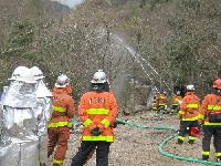 990神戸市灘消防団林野火災訓練