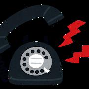 鳴る電話(イラスト)