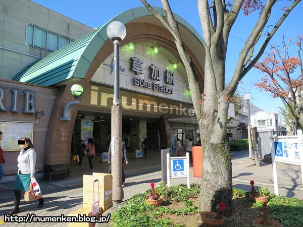 n_s_703(草加駅_プロジェクション・マッピング(埼玉)