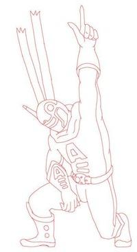 mcg_16(他人の描いた戦隊ヒーローの線画