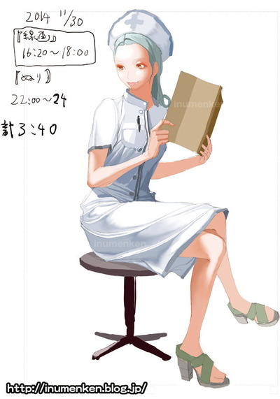 cg_r_24(絵の技法書「服のシワの描き方_マスターブック」ナース