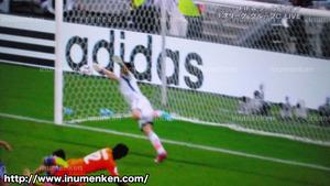 tv_22(サッカーW杯「日本VSコートジボワール」ゴールシーン