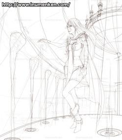 e_t_08(上空の宮殿内の女子_(線画)