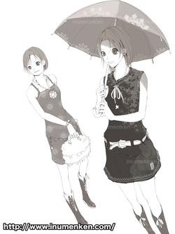mcg_24(傘さしている女子_線画