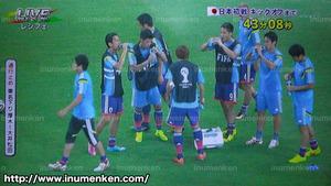 tv_04(サッカーW杯「日本VSコートジボワール」試合前の日本代表