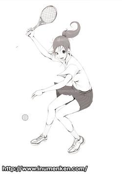 mcg_37(テニスしてる女子の絵_(線画)