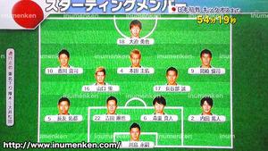 tv_03(サッカーW杯「日本VSコートジボワール」スタメン