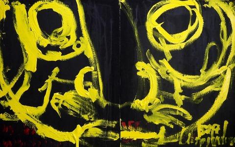 組作品(2)「のたうちまわる王様」(№1)91×145.4cm20190902