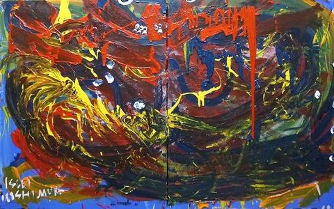 「赤色なIMAGE」カンバス91×145.4cm20190201