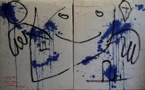「煮出した茸の汁」カンバス(F30×2)91×145.4㎝20210829