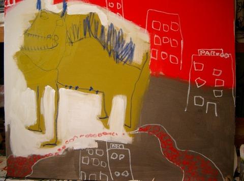 2006年第91回二科美術展 入選「パルコに行ってきた」S502006