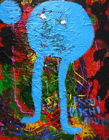 「溝の中の虫」カンバス、綿布F5020200907