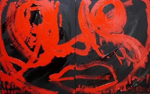 組作品(2)「のたうちまわる王様」(№2)91×145.4cm20190902