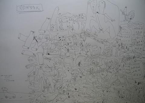 「パルコ文化」水彩紙、インク77.2×108.9㎝20210527