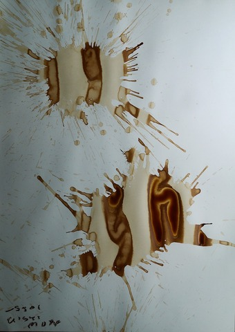 「表現の必然性」(№2)水彩紙、コーヒー108.9×77.2㎝20210722