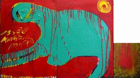 「色彩の明滅とキノコ」91×162.2㎝20210112