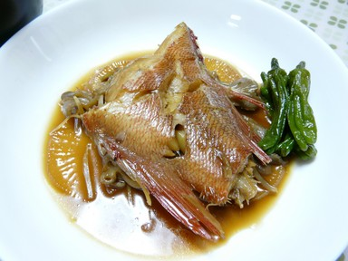 赤魚と舞茸の煮付け