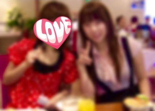 京都のカフェにて