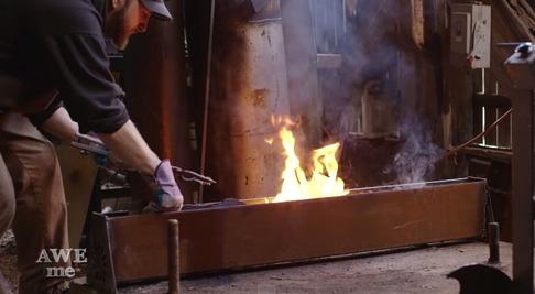 キルラキル「片太刀バサミ」を鍛冶屋が作る-05