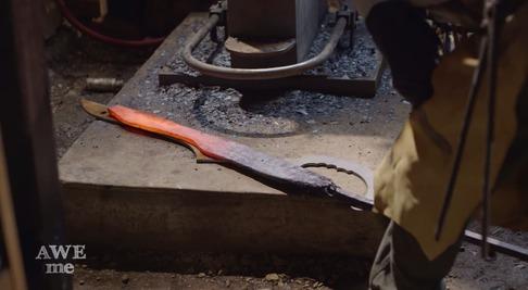 キルラキル「片太刀バサミ」を鍛冶屋が作る-02