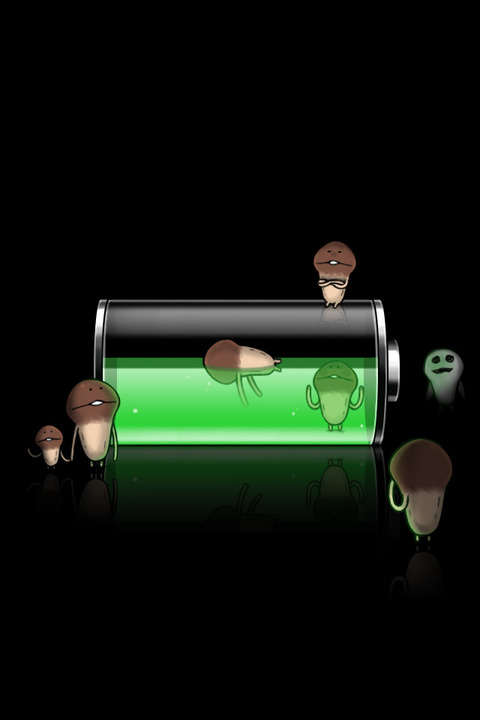 broken iphone battery wallpaper