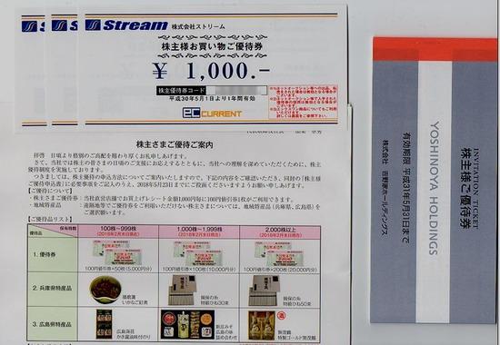 株主優待:吉野家 ストリーム MV西日本