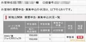 IPO 新規公開株 JPro当選