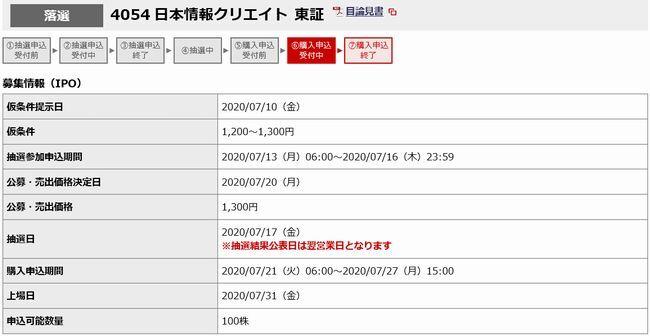 IPO 日本情報クリエイト