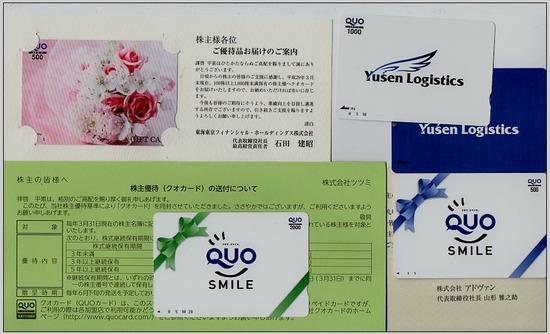 株主優待:ツツミ、東海東京FG、アドヴァン、郵船ロジスティックス