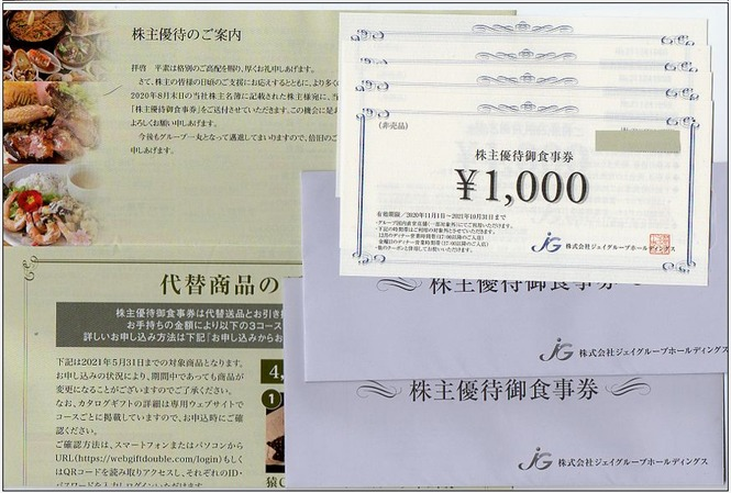 ジェイグループHD 株主優待