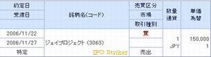 IPO 新規公開株 Jプロ 当選22